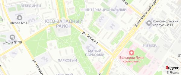 Улица Эрденко на карте Старого Оскола с номерами домов
