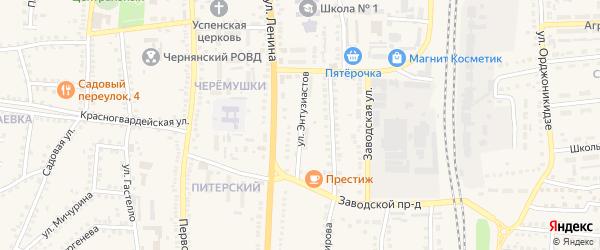 Улица Энтузиастов на карте поселка Чернянка с номерами домов