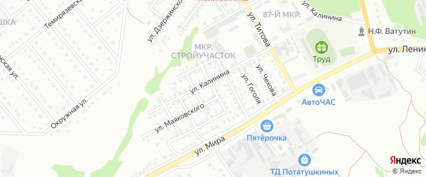 Улица Некрасова на карте Старого Оскола с номерами домов