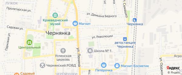 Улица Революции на карте поселка Чернянка с номерами домов
