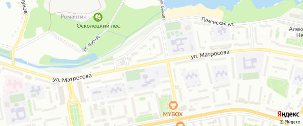 Улица Матросова на карте Старого Оскола с номерами домов