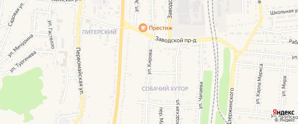 Улица Кирова на карте поселка Чернянка с номерами домов