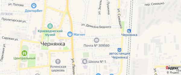 Улица 20 годовщина Октября на карте поселка Чернянка с номерами домов