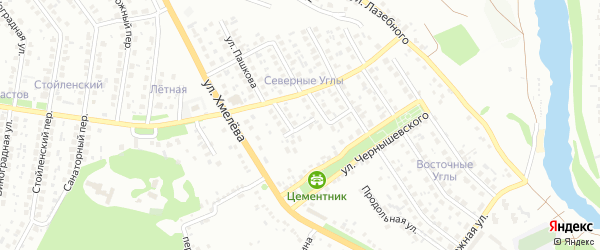 Переулок Пашкова на карте Старого Оскола с номерами домов