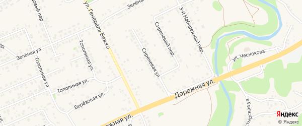 Сиреневая улица на карте села Федосеевки с номерами домов
