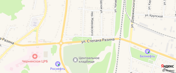 Улица Степана Разина на карте поселка Чернянка с номерами домов