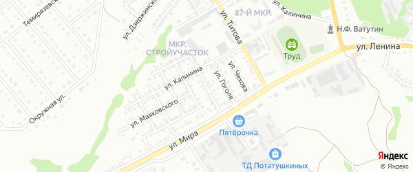 Улица Горького на карте Старого Оскола с номерами домов