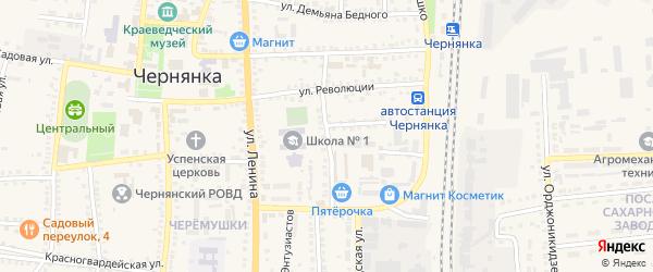 Магистральная улица на карте поселка Чернянка с номерами домов