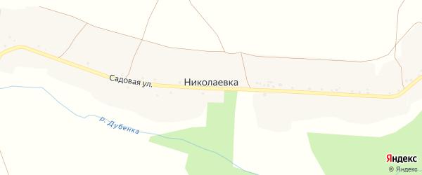 Учебный переулок на карте села Николаевка (Песчанский с/о) с номерами домов