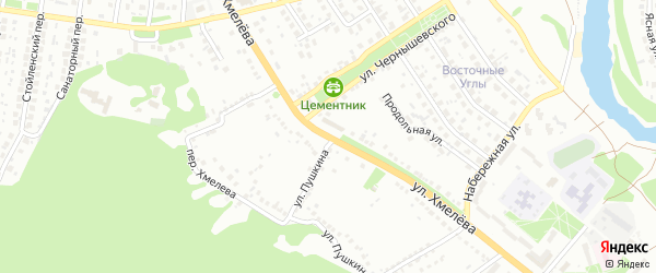 Улица Хмелева на карте Старого Оскола с номерами домов