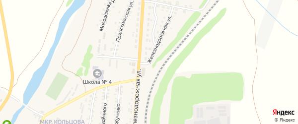 Железнодорожная железнодорожная будка на карте поселка Чернянка с номерами домов