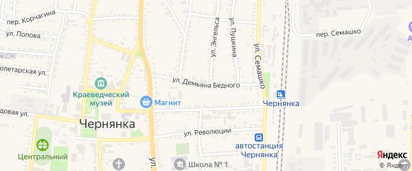 Километр 656 ж/д на карте поселка Чернянка с номерами домов