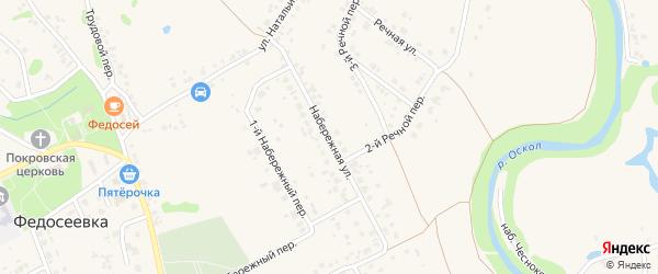 Набережная улица на карте села Федосеевки с номерами домов