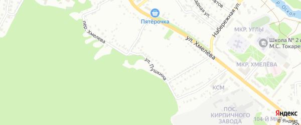 Улица Пушкина на карте Старого Оскола с номерами домов