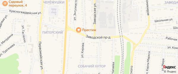 Заводской проезд на карте поселка Чернянка с номерами домов