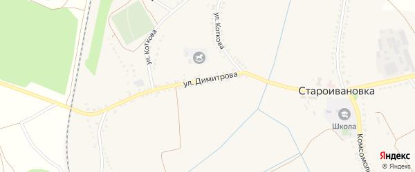 Советская улица на карте села Староивановки с номерами домов