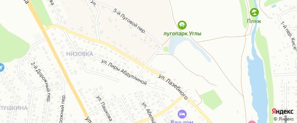 Российский переулок на карте Старого Оскола с номерами домов