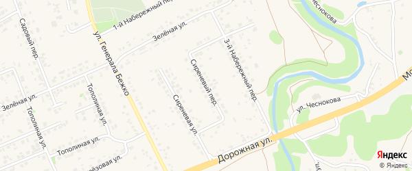 Сиреневый переулок на карте села Федосеевки с номерами домов