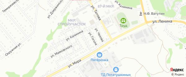 Улица Гоголя на карте Старого Оскола с номерами домов