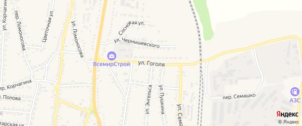 Улица Гоголя на карте поселка Чернянка с номерами домов