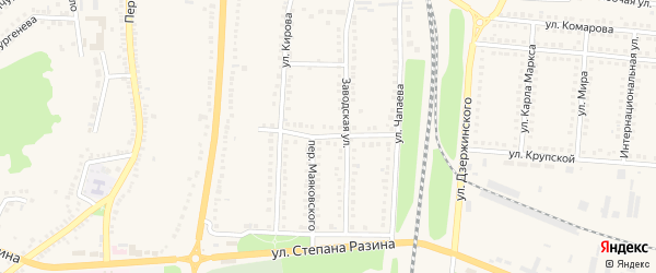Улица Маяковского на карте поселка Чернянка с номерами домов