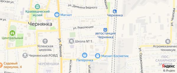 Магистральный переулок на карте поселка Чернянка с номерами домов