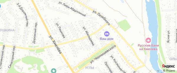 Улица Абельдяева на карте Старого Оскола с номерами домов