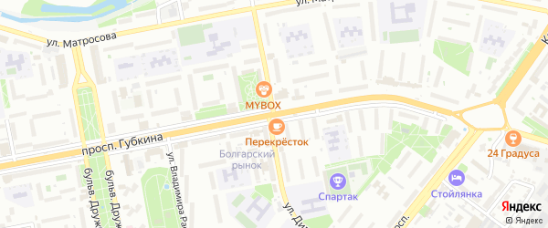 Улица Димитрова на карте Старого Оскола с номерами домов