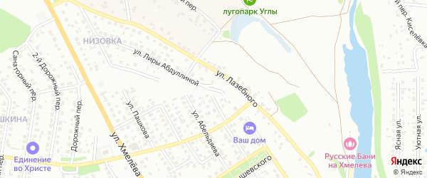 Переулок Лазебного на карте Старого Оскола с номерами домов