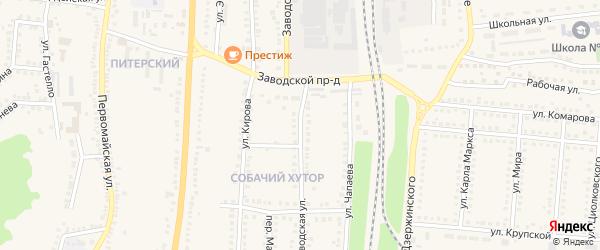 Заводская улица на карте поселка Чернянка с номерами домов