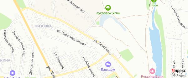 Улица Лазебного на карте Старого Оскола с номерами домов