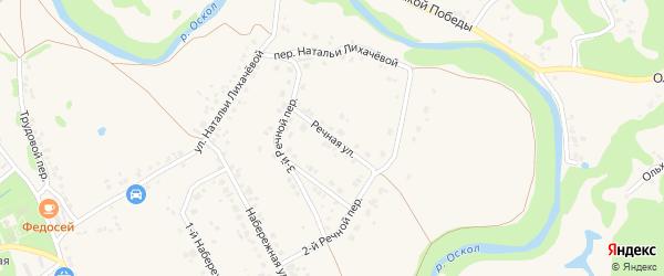 Речная улица на карте села Федосеевки с номерами домов