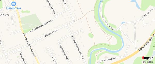 2-й Набережный переулок на карте села Федосеевки с номерами домов