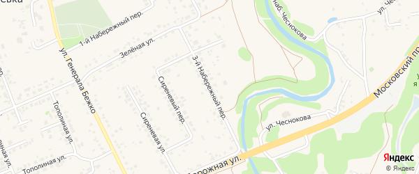 3-й Набережный переулок на карте села Федосеевки с номерами домов
