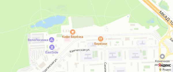 Кутергенская улица на карте села Усть-Кана с номерами домов