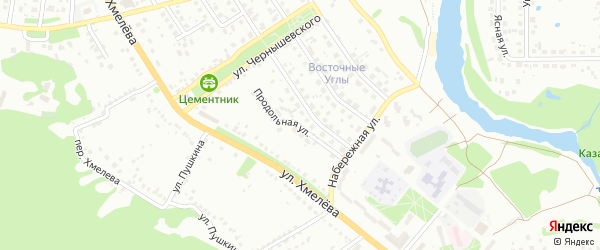 Продольная улица на карте Старого Оскола с номерами домов