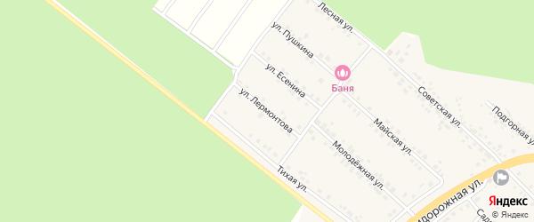 Улица Лермонтова на карте села Ниновки с номерами домов