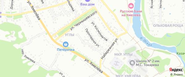 Прохладная улица на карте Старого Оскола с номерами домов