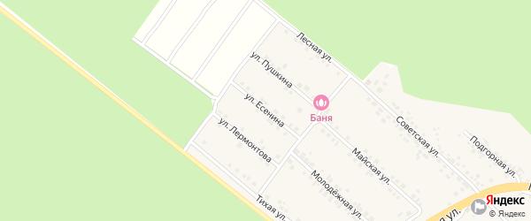 Улица Есенина на карте села Ниновки с номерами домов