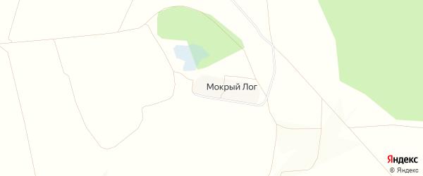 Карта хутора Мокрого Лога в Белгородской области с улицами и номерами домов