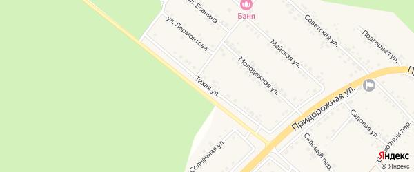 Тихая улица на карте села Ниновки с номерами домов