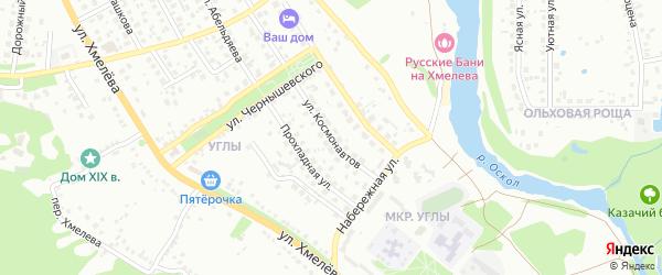 Улица Космонавтов на карте Старого Оскола с номерами домов
