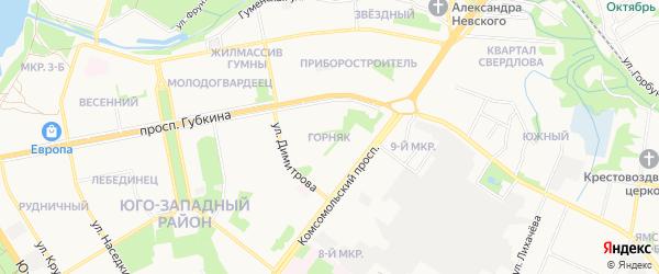ГСК Горняк на карте Старого Оскола с номерами домов