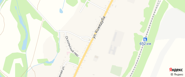 Улица Кожедуба на карте поселка Чернянка с номерами домов