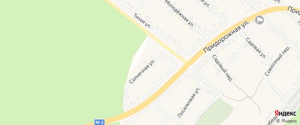 Солнечная улица на карте села Ниновки с номерами домов