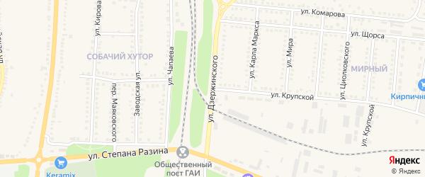 Улица Дзержинского на карте поселка Чернянка с номерами домов