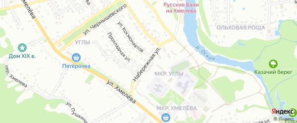 Набережная улица на карте Старого Оскола с номерами домов