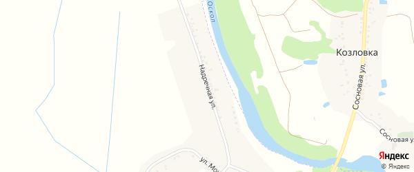 Надречная улица на карте села Осколища с номерами домов