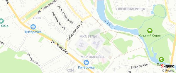Микрорайон Углы на карте Старого Оскола с номерами домов