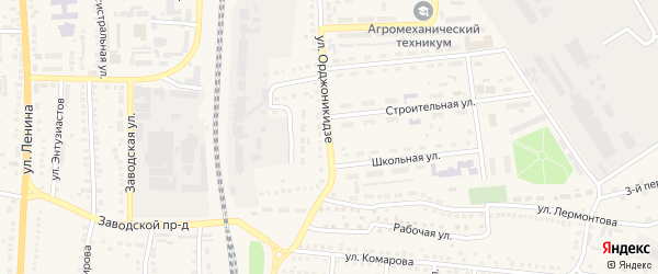 Улица Орджоникидзе на карте поселка Чернянка с номерами домов